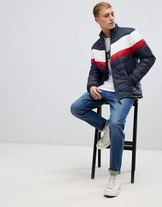 Esprit puffer jacket with retro chest stripe