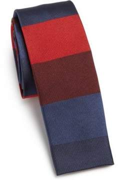 Paul Smith Wide Horizontal Stripe Silk Tie