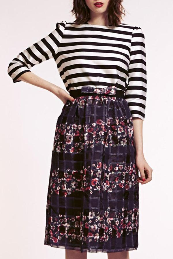 Dahlia Organza Midi Skirt