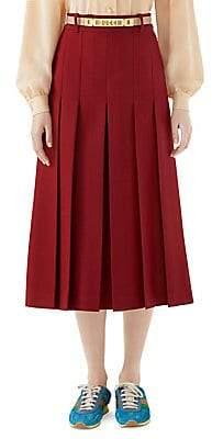 Gucci Women's Long Skirt with Logo Belt