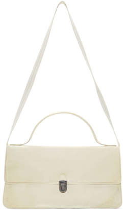 Cherevichkiotvichki White Small Triple Prism Bag