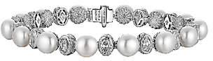 "Judith Ripka Sterling Pearl & Diamonique 6-1/2"" Bracelet"