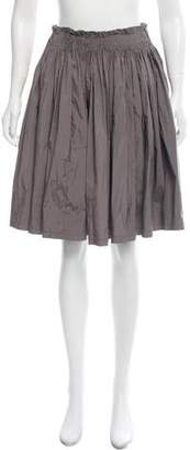 Prada Pleated A-Line Skirt