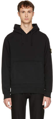 Stone Island Black Arm Badge Logo Hoodie