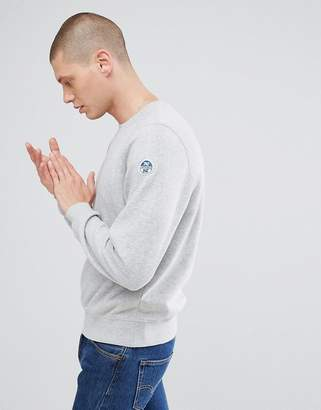 North Sails Patch Logo Sweatshirt in Gray