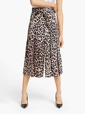 Marella Natale High Waist Leopard Trousers, Brown