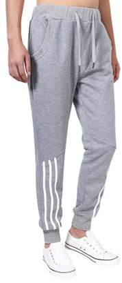 LinTimes Running Pants for Men Casual Long Pants With Elastic Waistband Color:Grey Size:XL