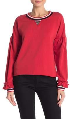 Rebecca Minkoff Jewel Striped Trim Sweatshirt
