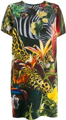 Roberto Cavalli Paradise Found print dress