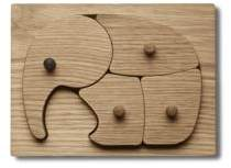 Georg Jensen Four-Piece Elephant Puzzle Set