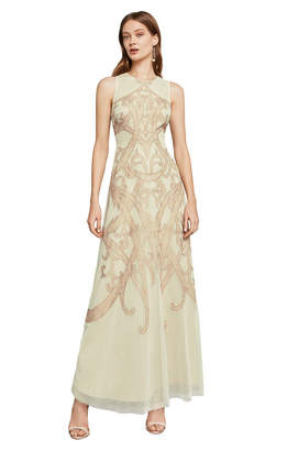 BCBGMAXAZRIA Acotas Lace-Applique Gown