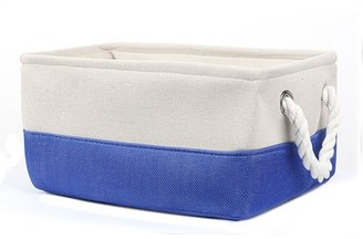 Unique Bargains Canvas Fabric Storage Bins Basket Container Laundry Toys Organizer with Dual Handles