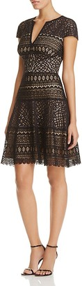 Tadashi Shoji Illusion Lace Fit-and-Flare Dress $428 thestylecure.com