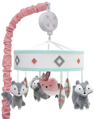 Lambs & Ivy Little Spirit Southwest Fox and Owl Musical Baby Crib Mobile Bedding