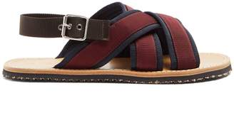 Marni Cross-strap grosgrain sandals
