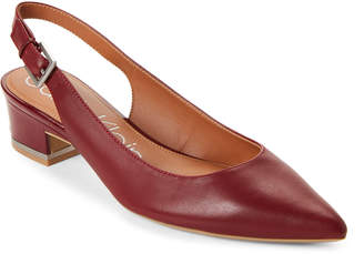 Calvin Klein Red Rock Glorianna Leather Slingback Pumps