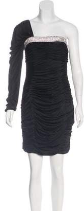 Robert Rodriguez One-Shoulder Embellished Dress