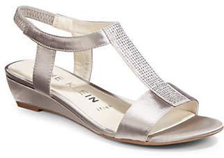 Anne Klein Embellished Wedge Sandals