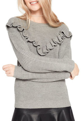 Miss Selfridge Chunky Frilled Sweater $70 thestylecure.com