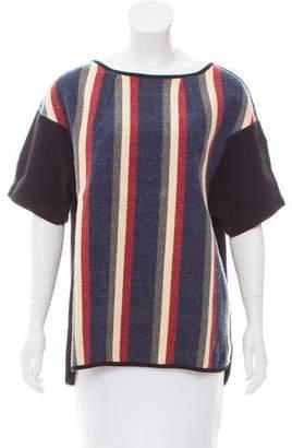 Dries Van Noten Striped Wool Top