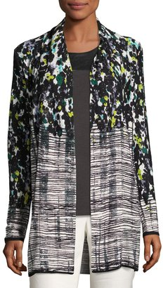 NIC+ZOE Greenway Floral-Print Cardigan, Multi $99 thestylecure.com