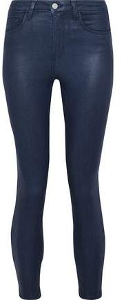 Coated High-Rise Skinny Jeans