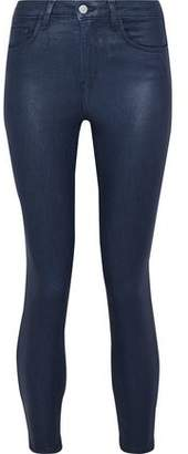 L'Agence Coated High-Rise Skinny Jeans