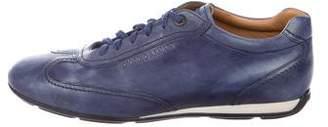 Giorgio Armani Leather Low-Top Sneakers