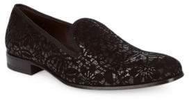 Mezlan Printed Suede Loafers
