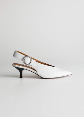 And other stories Pointed Slingback Kitten Heels