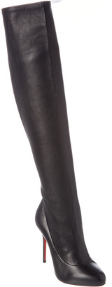 Christian Louboutin Sempre Monica 100 Leather Over-The-Knee Boot
