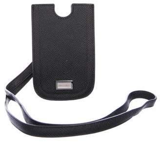 Dolce & Gabbana Blackberry Leather Phone Case