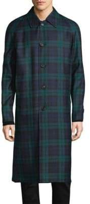 Burberry Patterned Wool Overcoat
