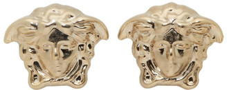 Versace Gold Medusa Stud Earrings $120 thestylecure.com