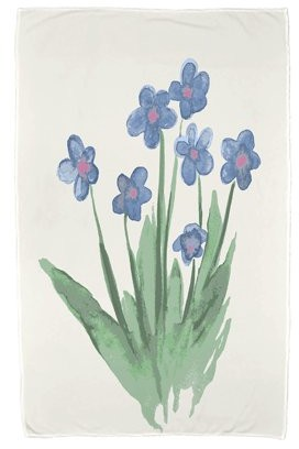Simply Daisy, 30 x 60 inch, Pretty Little Flower Beach Towel, Light Blue