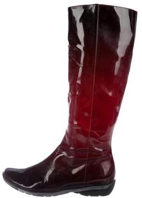 Aquatalia Patent Leather Knee-High Boots