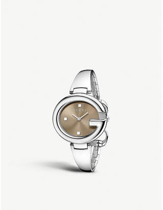 4808305ff2c Gucci YA134302 Guccissima stainless steel watch