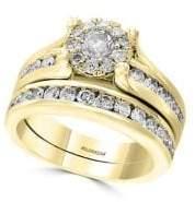 Effy D' Oro 14K Yellow Gold & Diamond Bridal Ring