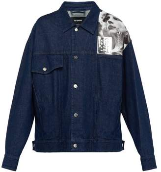 Raf Simons Photographic Print Denim Jacket - Mens - Navy