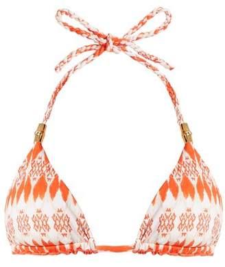 Heidi Klein Punta Del Este Reversible Triangle Cup Bikini Top - Womens - Orange Print