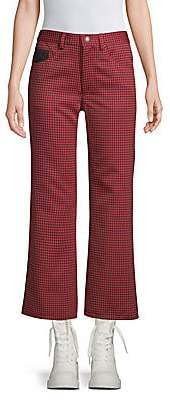 Marc Jacobs Women's Cropped Houndstooth Pants