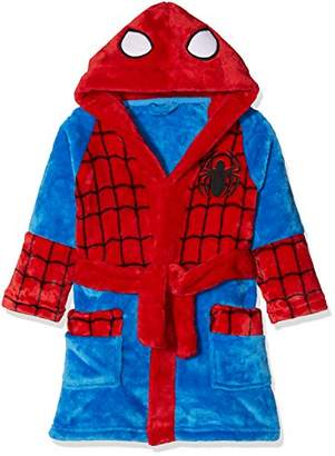 Mothercare Baby Boy's Spiderman Fluffy Bathrobe,S