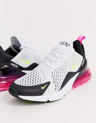 Nike 270 sneakers in white and pink