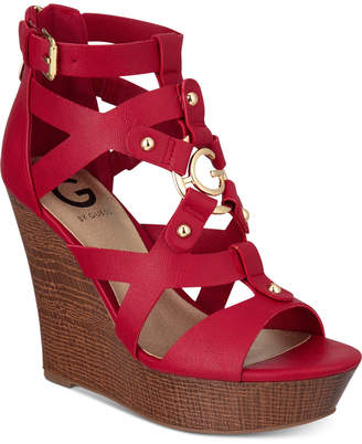 G by Guess Dodge Platform Wedge Sandals Women's Shoes