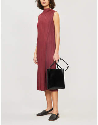 Pleats Please Issey Miyake Shiny Pleats round-neck pleated dress