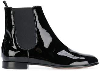 Gianvito Rossi varnish chelsea ankle boots