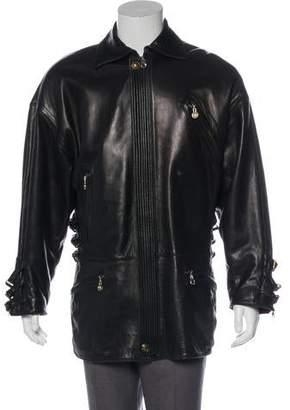 Gianni Versace Leather Coat