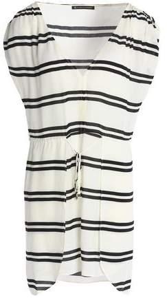 Striped Poplin Cover-Up