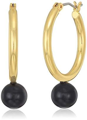 Trina Turk Women's Beads in Bloom Hoop With Navy Drop Hoop Earrings