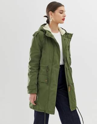 Parka London Abigaile Fleece Lined Parka Coat